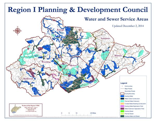 Region One Planning and Development Council planned water and sewer projects.