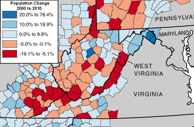 W Va S Political Center Shifting North From A Once Booming South