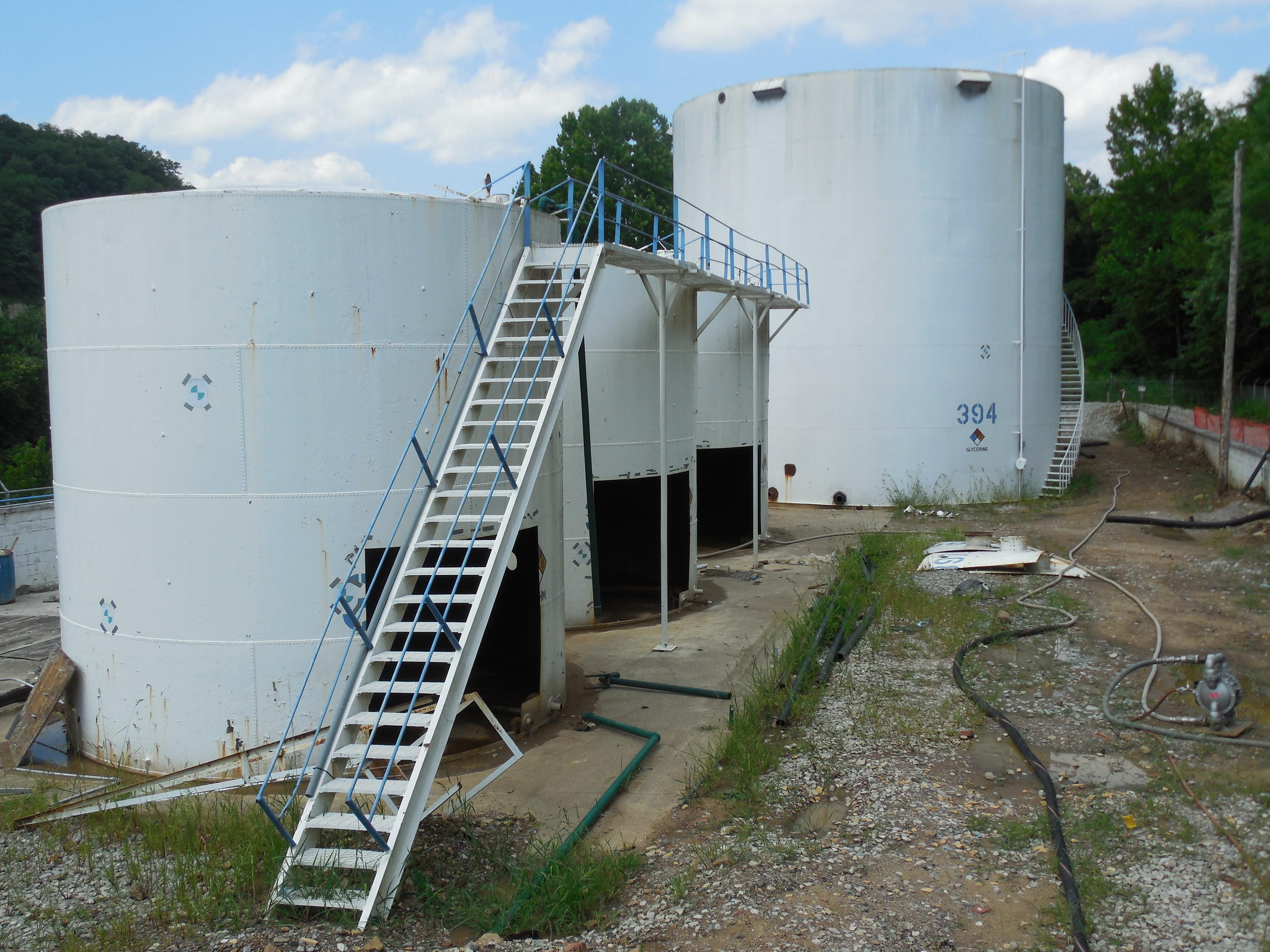 The Storage Tanks That Once Sat At The Freedom Industriesu0027 Site Along The Elk  River.