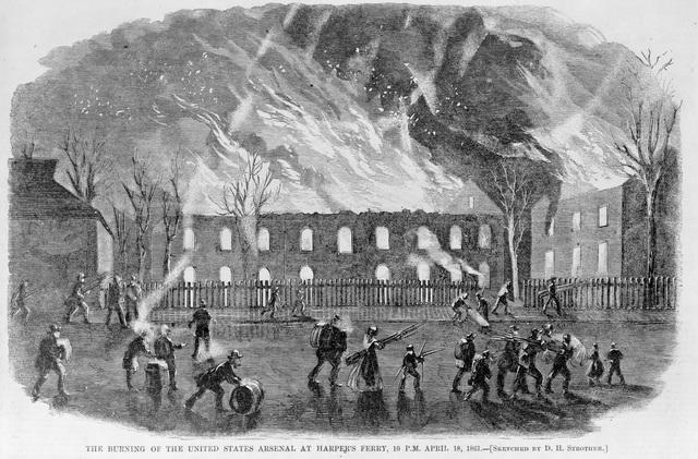 April 18, 1861: Federal Soldiers Set Fire to Harpers Ferry ...