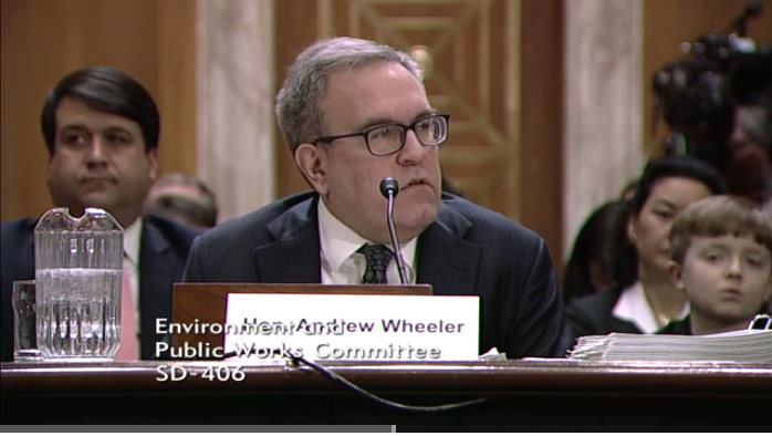EPA Nominee Andrew Wheeler Downplays Climate Threat At Testy Confirmation Hearing
