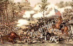 Lithograph of the Battle of Atlanta
