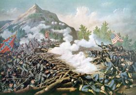 Illustration of the Battle of Kennesaw Mountain