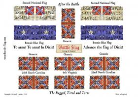 Samples of some confederate flags