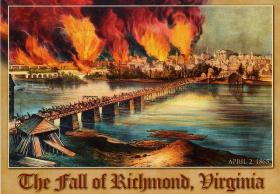 Illustration of the fall of Richmond, Virginia