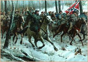 General Forrest leading the charge