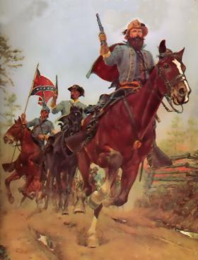 Illustration of Jeb Stuart's ride around