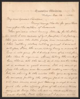 President Lincoln's letter to General Sherman