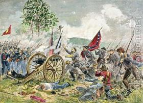 Artwork of Pickett's Charge