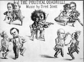 Political cartoon following the Dred Scott decision