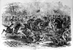 An illustration of a southwest Virginia battle
