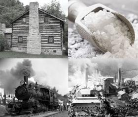 Images from salt production in Saltville, Virginia