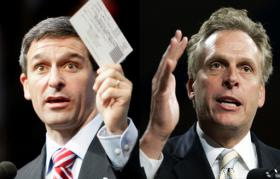 Republican Ken Cuccinelli (left) and Democrat Terry McAuliffe.