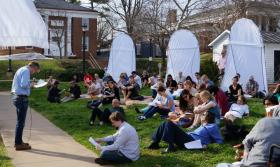 UVA students read their work.