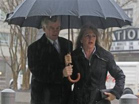 Former Governor Bob McDonnell and his wife Maureen arrive to federal court for the hearing.