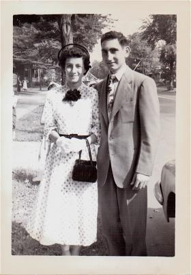 Deborah Prum's Parents, Jim & Eva Mazzotta, on their honeymoon.