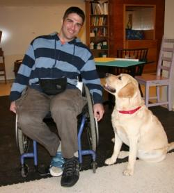 Jeff and his service dog Jasper.