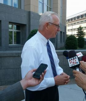 Dr. Bob Holsworth at the federal courthouse in Richmond.