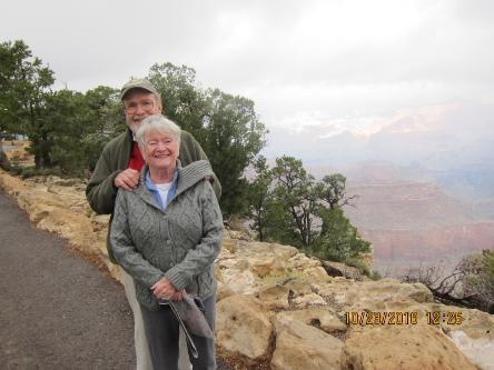 John Peale and his wife Lydia at the Grand Canyon