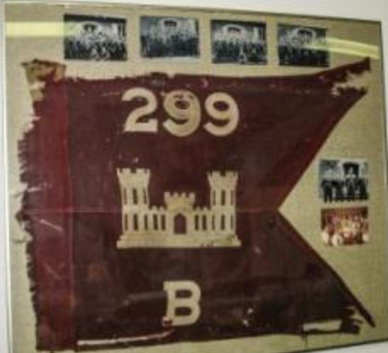 299th Combat Engineer Battalion Flag Flown at Assault on Utah Beach D-Day, 1944
