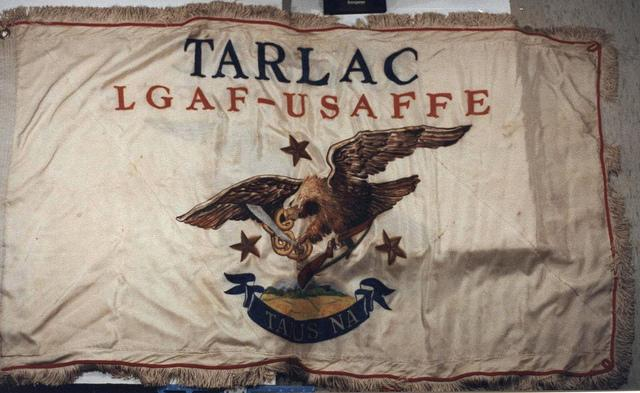 World War II Filipino and U.S. Guerrilla Unit Flag, circa 1940s