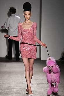 Guinevere on a New York runway, Fall 2011