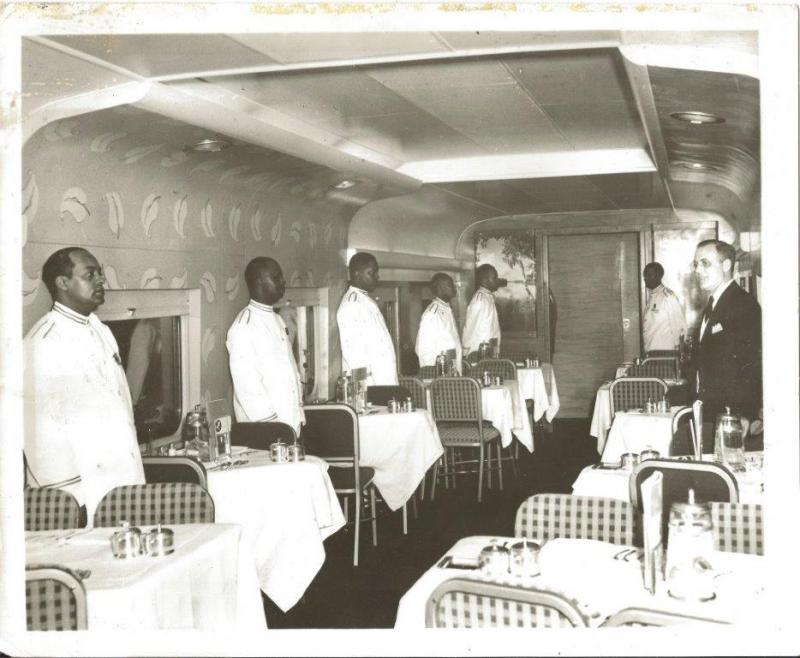 Dining Car with Waiters and Wteward