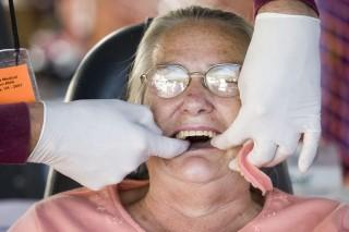 About half of the patients who come to RAM in Wise seek dental care.