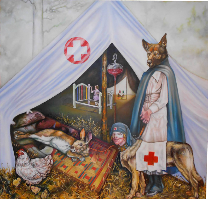 Infirmary, 2008-2013, oil on canvas