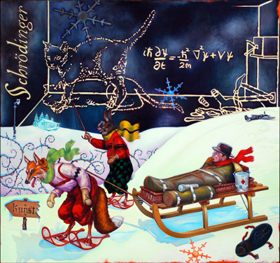 The Rescue of Beuys (Winter), 2008-2013, oil on canvas