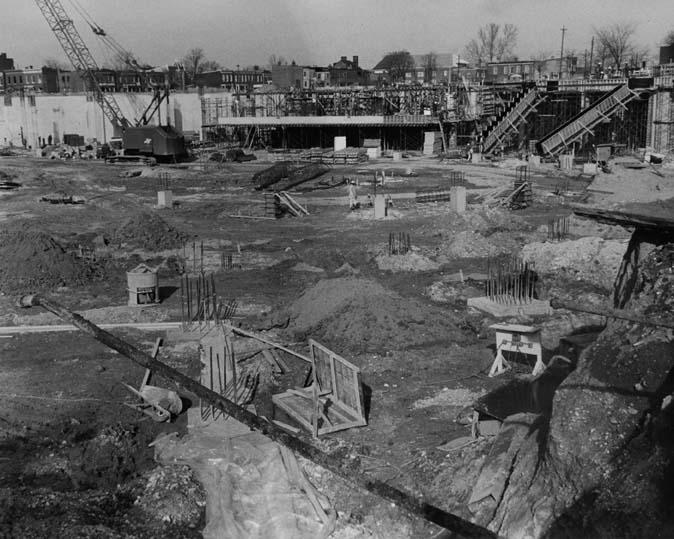 December 30, 1968 | Construction of Richmond Coliseum | Credit: Richmond Times-Dispatch Collection, The Valentine | Photographer: James Netherwood