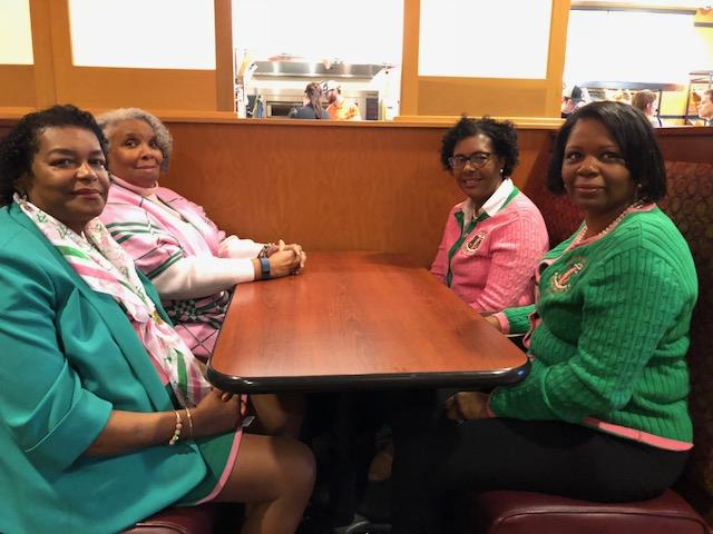 Alpha Kappa Alpha Sorors (from left) Dorothy R. Smith, Maria Crenshaw, Tamara Johnson and Sada' Hill