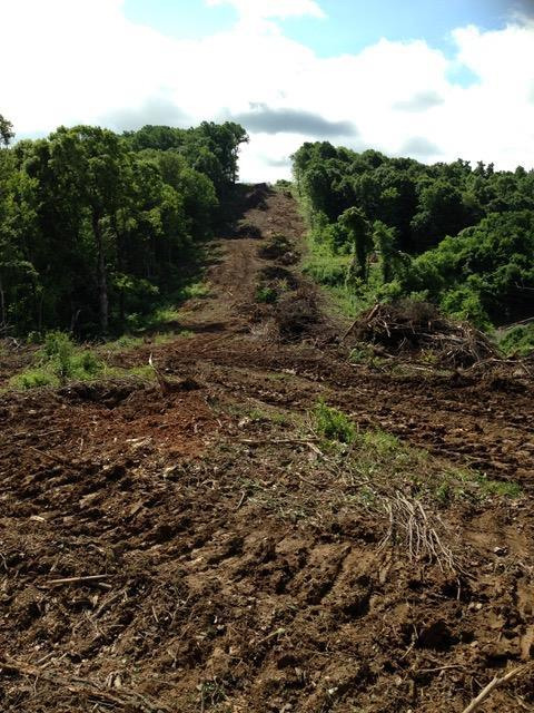 A section of pipeline construction near Sinking Creek in Giles County.