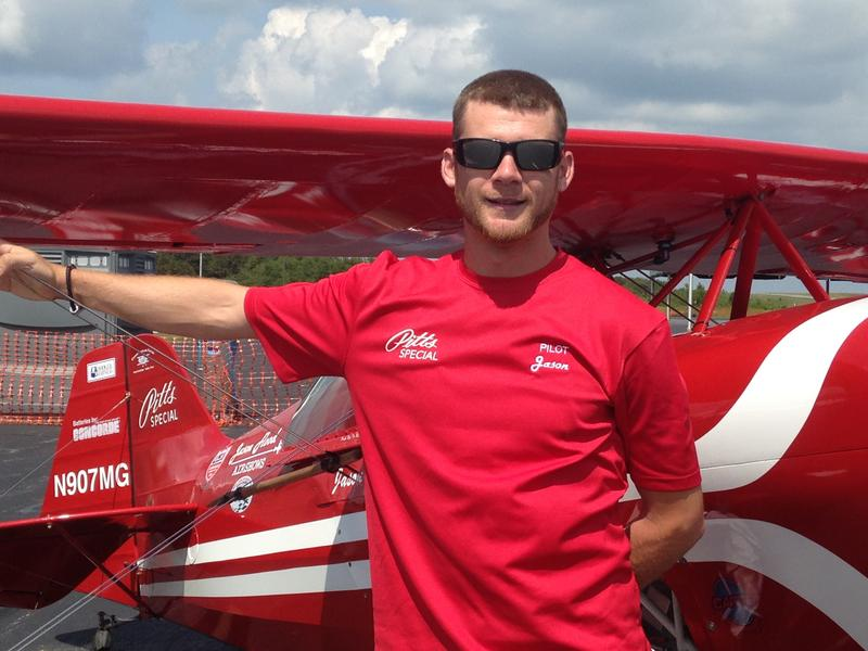 New Jersey pilot Jason Flood came back from a serious crash to thrill crowds in Bath County.