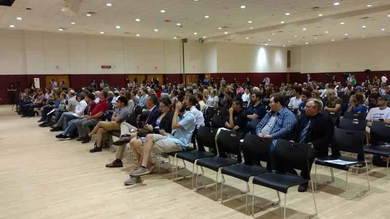 Several hundred people attended the forum at Virginia Tech.