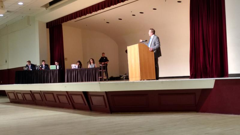 Republican Corey Stewart fielded questions first.