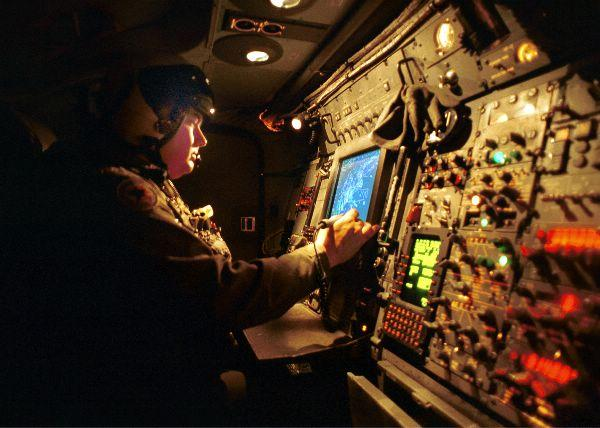An air crewman aboard VAW-125.
