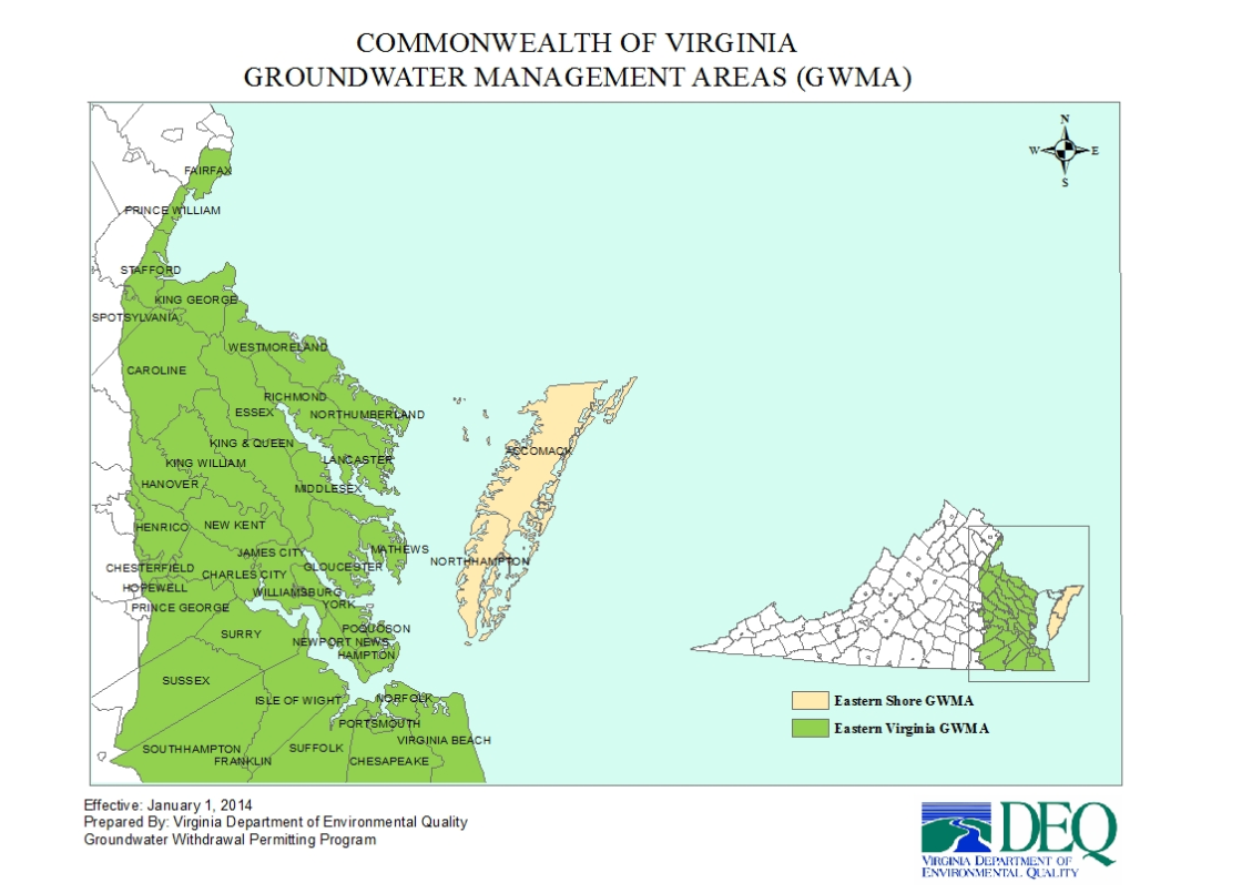 East Of I 95 Virginia Begins To Limit Permitted Groundwater Users