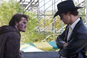 Still of Matthew McConaughey and Emile Hirsch in Killer Joe