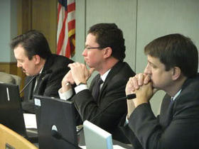 Hamilton County Commissioners (L-R) Todd Portune, Greg Hartmann and Chris Monzel.
