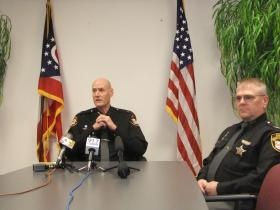 Sheriff Jim Neil and Chief Deputy Mark Schoonover discuss Monday's massive car accident.