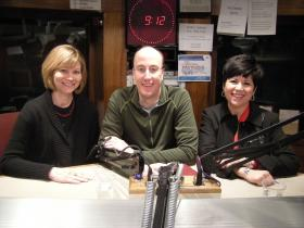 Dr. Bonnie Brehm, Dr. Randy Seely and Sunnie Southern in the WVXU studios