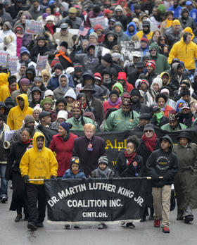 File photo of the 2013 Martin Luther King Jr. march in Cincinnati.