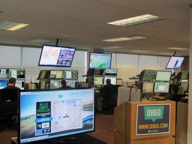 ODOT's traffic center in Columbus.