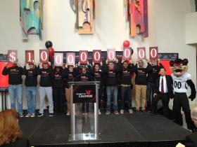 UC President Santa Ono tweeted this picture during the fundraising announcement