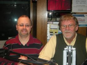 Jay Hanselman and Howard Wilkinson in the WVXU studios