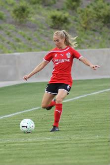 US National Team defender Heather Mitts played for several teams in several iterations of women's professional soccer leagues, including for the Atlanta Beat.