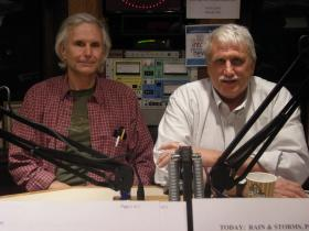 Peter Huttinger and David Koester in the WVXU studios