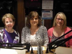 Lisa Garofalo, Patti Craig and Tracey Rowe in the WVXU studios