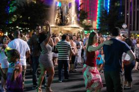 Salsa on Fountain Square Thursday nights throughout the summer.
